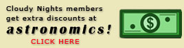 Astronomics discounts for Cloudy Nights members