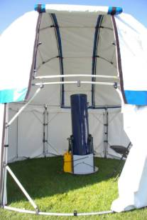 The  Neighborhood Observatory Dome  (NOD) configuration. This is Chrisu0027s 10  DOB. We used this one night to view 17P/Holmes and easily had 4 people and ... & AstroGizmou0027s AstroGazer - Observing Domes Tents and Panels ...