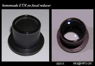 ETX-70 homemade focal reducer