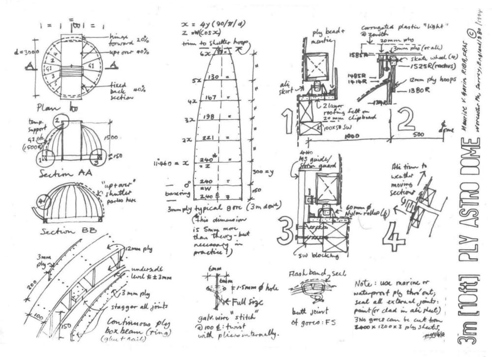 Diy 10ft Dome Plans Observatories Cloudy Nights