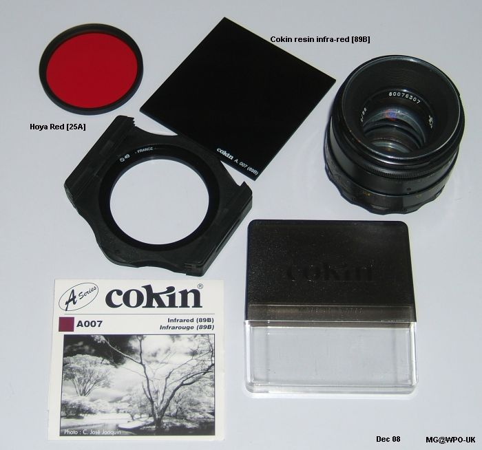 ir/red filter kit