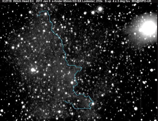 profile of witches face nebula pics about space