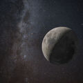 Moon lost in space