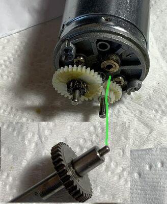 rear motor shaft bushing