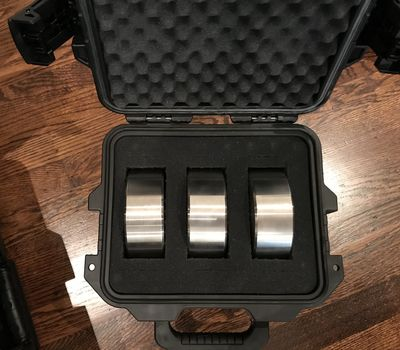 3x Astro-Physics 9lb counterweights in Pelican Storm iM2075