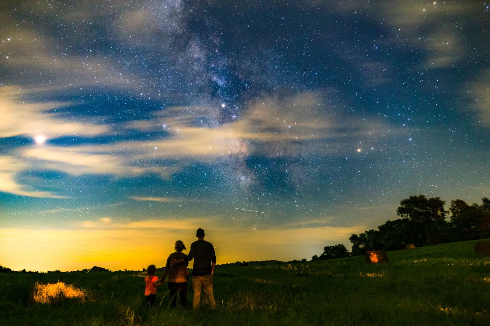 """Claim to """"Fame""""- Perseid Meteor Shower with the Family"""