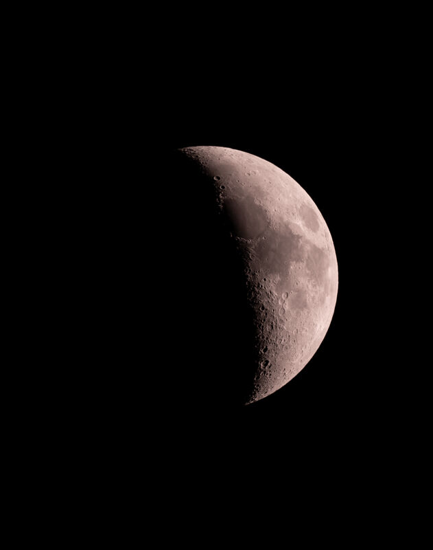Quick Moon shot from the house with the new AT111