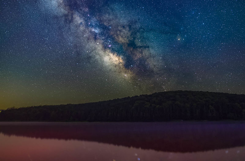 Galactic Center over Spruce Knob Lake, WV