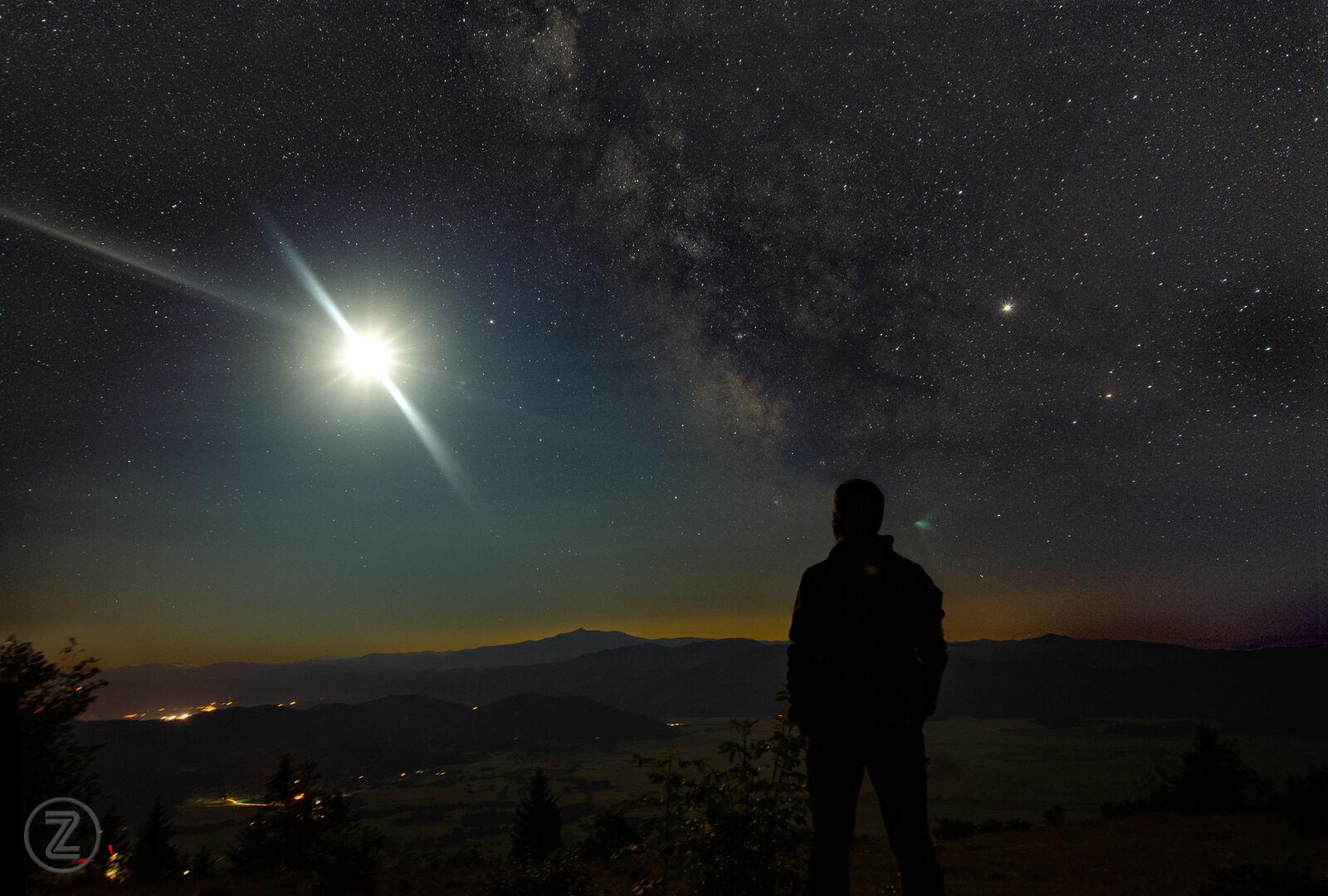 Milky way eclipse