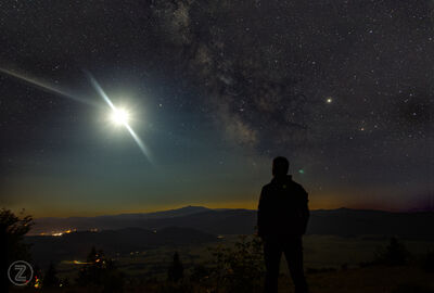 Milky way eclipse