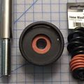 Celestron Advanced VX: Counterweight bar, locknut, and hose washers