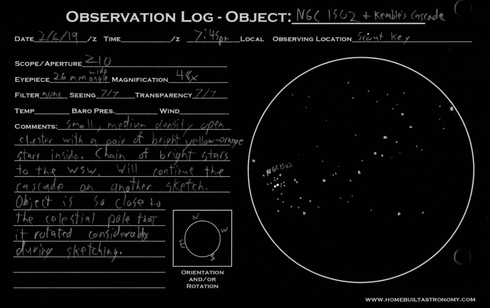 NGC 1502 Kembles Cascade
