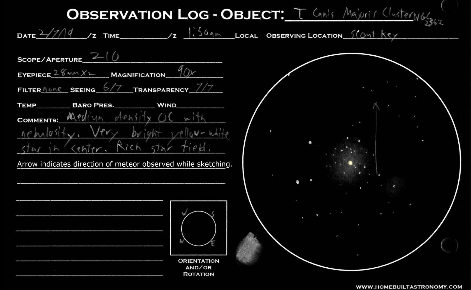 Tau Canis Majoris Cluster NGC 2362