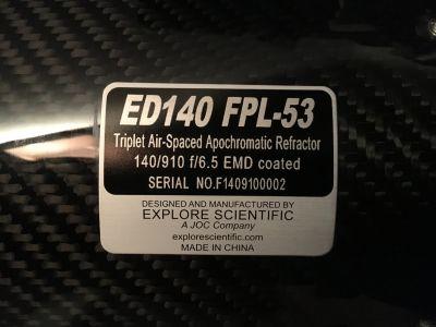 ES ED140 FPL-53 Refractor