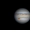 Jupiter and Ganymede, August 22 2019