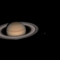 Saturn with moons, 28 August 2020