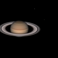 Saturn and moons, June 13, 2020