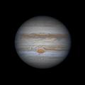 Jupiter in excellent seeing, 28 June 2020
