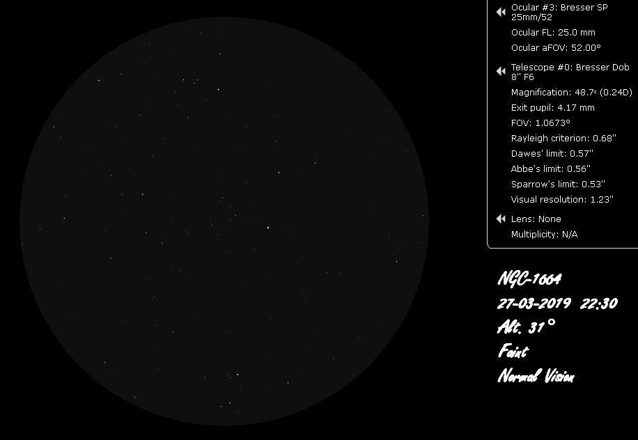NGC 1664 48x BW