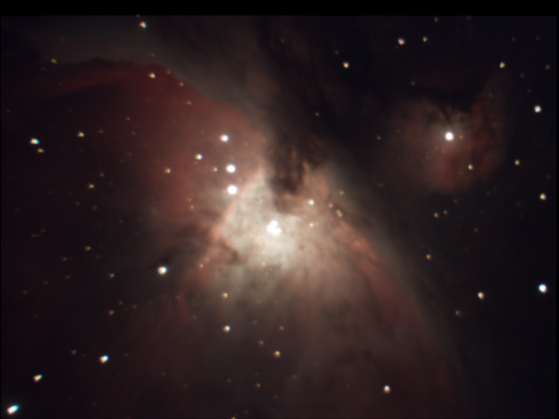 M42 Orion Nebula Stack 70frames 347s WithDisplayStretch