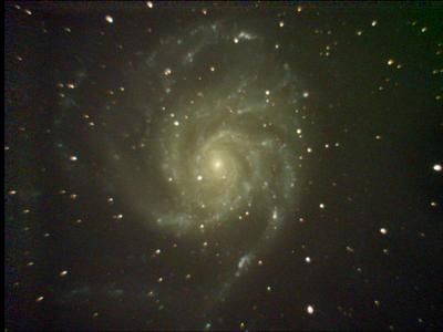 M101 Pinwheel Galaxy Stack 12sX350g 99frames 1188s WithDisplayStretch
