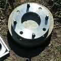 Backyard pier stub and pipe flange