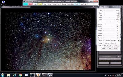 rho ophiuchi ISO3200 secs30 x 6 frames ScreenGrab