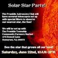 Solar Star Party, June 22nd, 2019