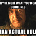 Pirate  Guidelines And Rules