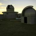 Shreveport Observatory Back Viewing Field and Dome