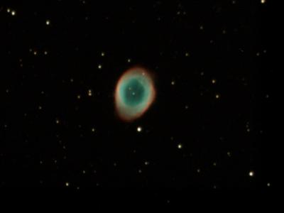 M57 Ring Nebula at F10.5 Stack 63frames 315s