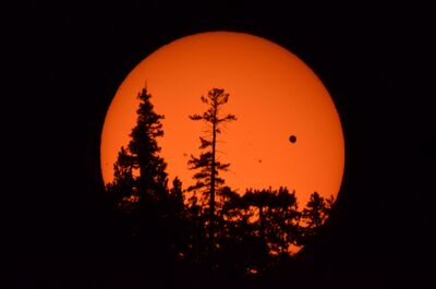 Venus Transit at Sunset over Carson Range (Genoa, NV)