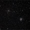 An Open Cluster Paired with a Galaxy