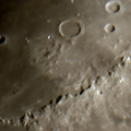 Montes Apenninus, a mountain range on the northern part of the moon.