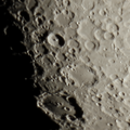 Tycho Crater (upper middle) and Clavius Crater (lower middle)