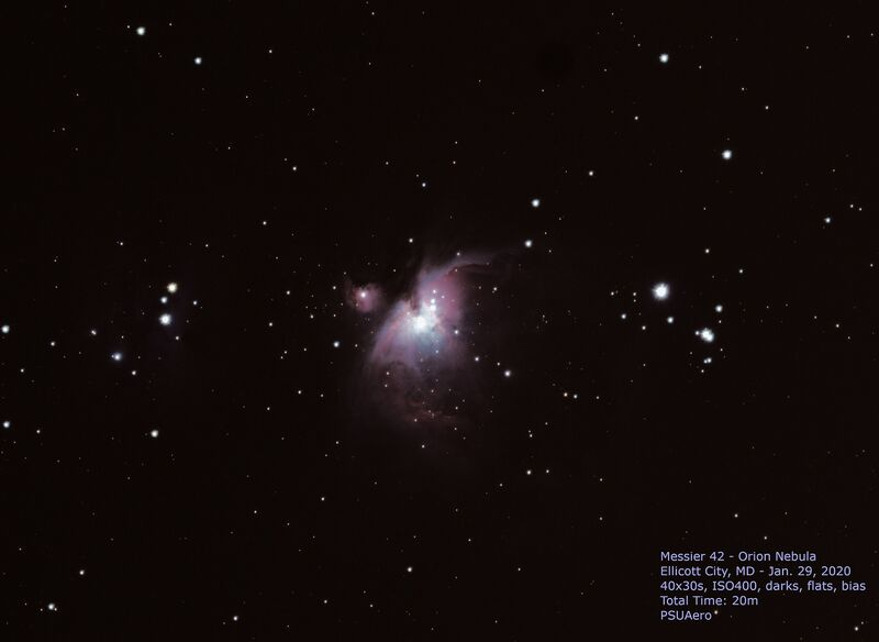 Messier 42 - Orion Nebula - just 20 - minutes of data
