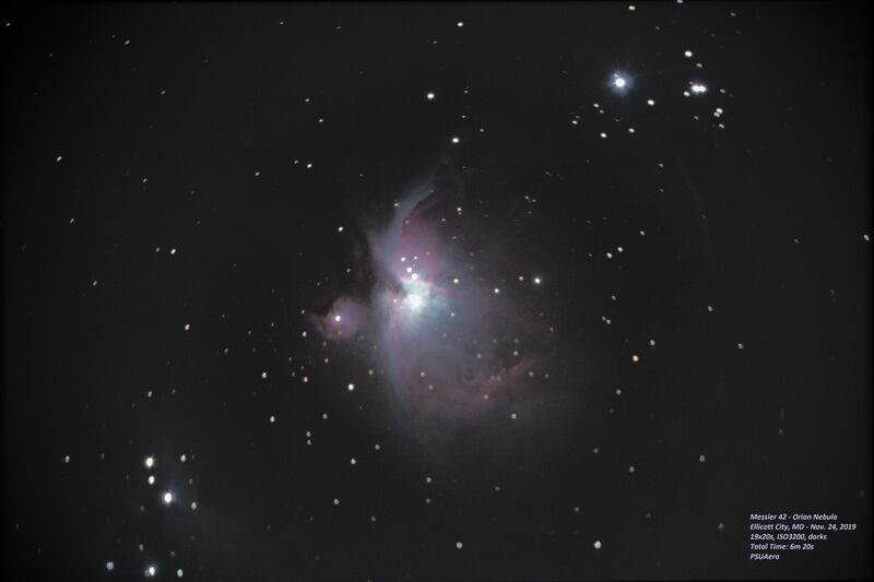 Messier 42 - Orion Nebula (reprocessed)