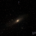 M31 - Andromeda Galaxy (also M32 and M110).