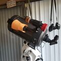 Celestron C8 on SkyWatcher AZ EQ5 GT mount with ZWO 120 MC-S for guiding