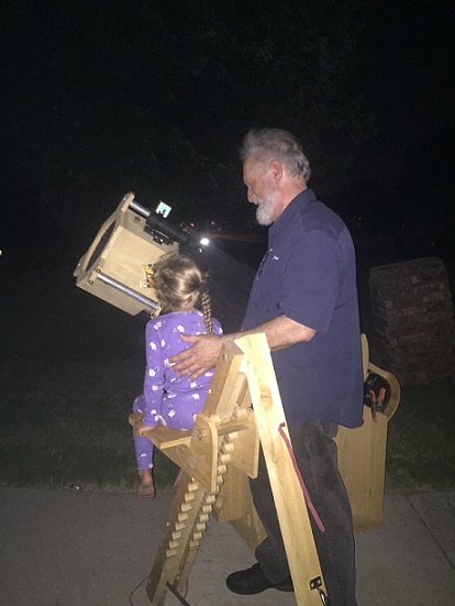 Carrie viewing Saturn 7 17 2017 C