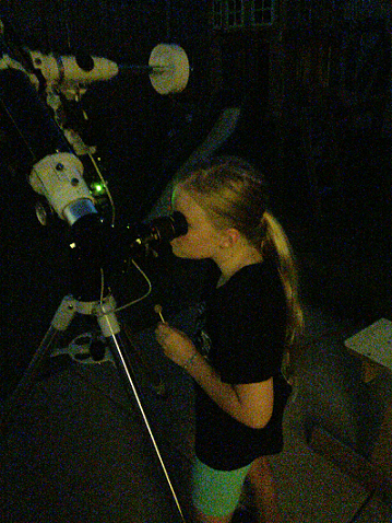 Hannah observing double stars C