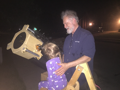Carrie viewing Saturn 7 17 2017 B