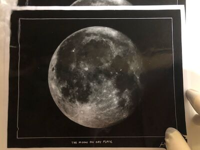 Moon on Dry Plate Print