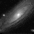 M31, M32, M110, The Andromeda Galaxy Group with  TSapo100Q and Sigma Tele-extender, f8