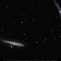 NGC4631 (Whale G), NGC4627, NGC4656 (Hockey StickG), Interacting Galaxies in Canes Venatici