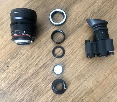 16mm lens setup