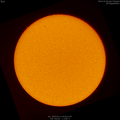 Sun with a few small filaments and enhanced prominences
