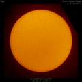First Hα Solar Image with Enhanced Prominences