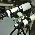 APM102LW & Pentax 75SDHF side by side on Teegul Lapide modified mount