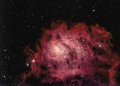 Alberio Post Processed Lagoon Nebula 13000 stack filtered W